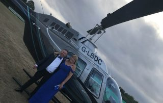 helicopter for event hosted by private event planner birch associates