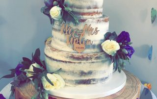 wedding cake provided by private event planner birch associates