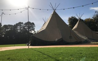 tents used for event hosted by private event planner birch associates