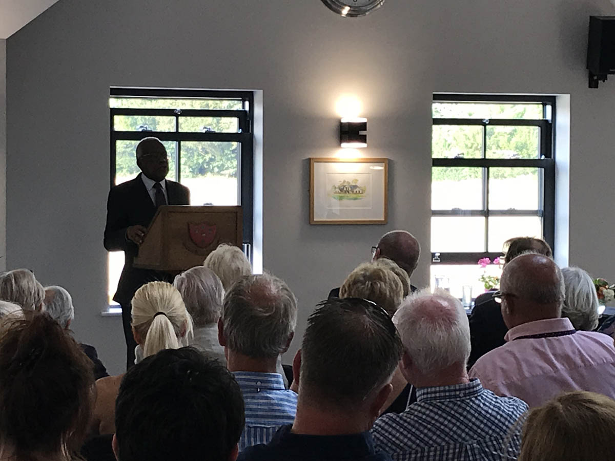 trevor mcdonald speech organised by community event planner birch associates