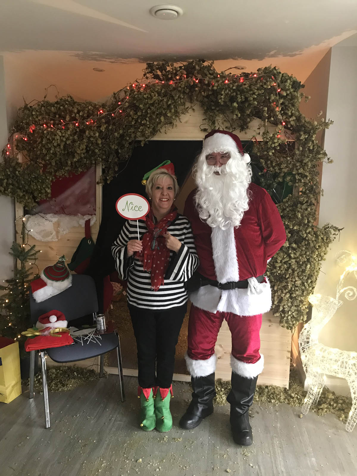 santa claus at christmas event organised by community event planner birch associates