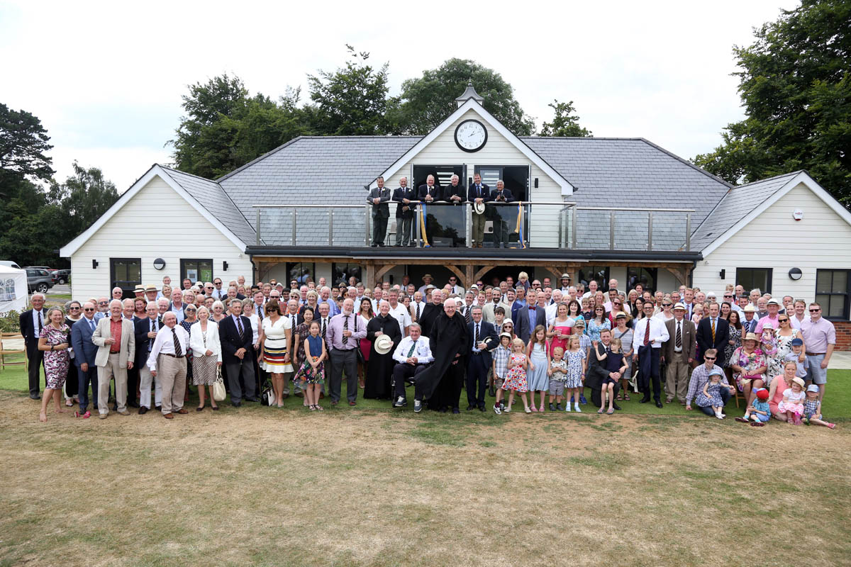 crowd outside douai pavillion at event by community event planner birch associates
