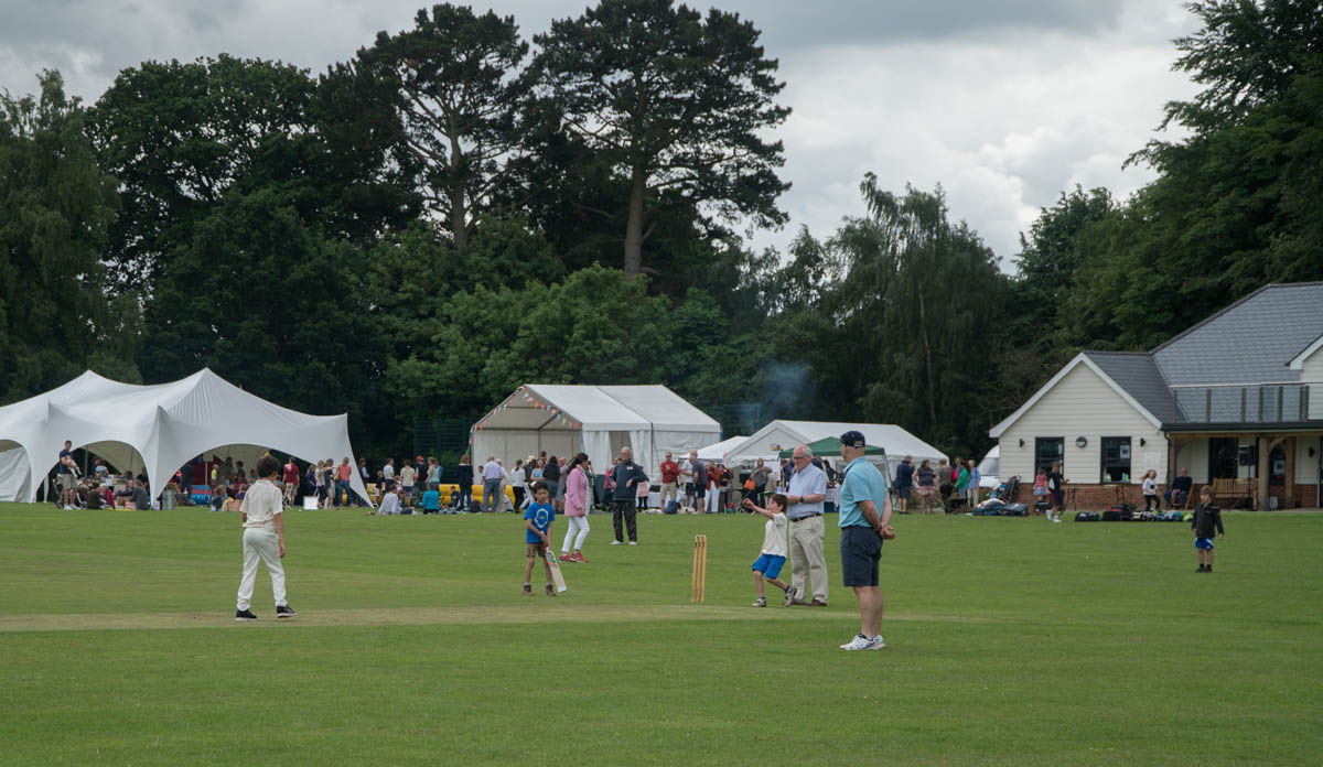 people playing cricket at event organised by community event planner birch associates
