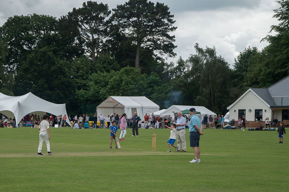 children playing cricket at public event organised by event consultants