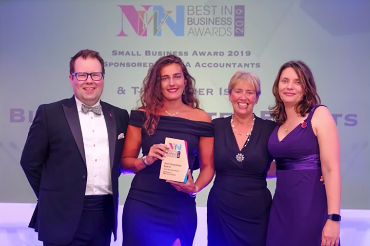 local event planners win best in business award