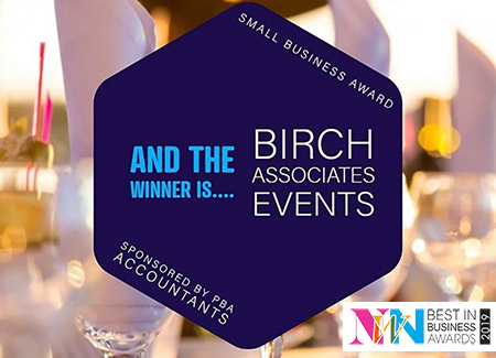 bespoke event planning experts Birch Associates win Best in Business Award